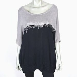 Plus Size 3X Sequin Dolman Sleeve Knit Sweater Top